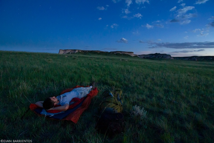 Cowboy camping in the prairie at Pawnee National Grassland.