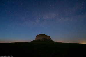 The Milky Way above West Pawnee Butte.